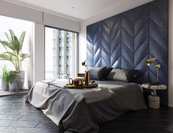 bedroom inspiration Bedroom Inspiration in Shades of Grey and Blue master bedroom design in shades of grey and blue modern bedroom ideas design 600x460