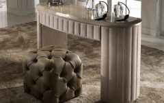 dressing tables 10 Dressing Tables For Your Bedroom Furniture Curved Designer Nubuck Leather Dressing Table 1 240x150