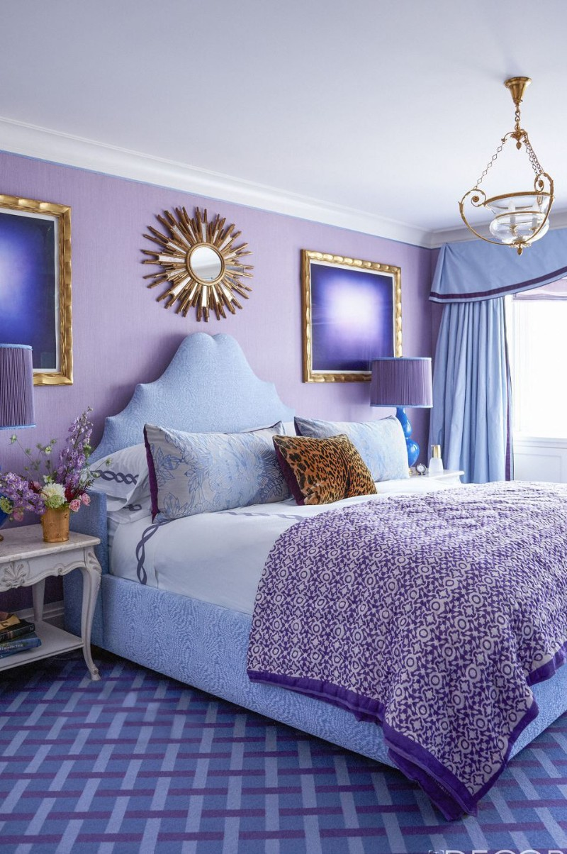 Summer Trends: Purple Bedrooms For a Stylish Room Design ... on Trendy Bedroom Ideas  id=29735