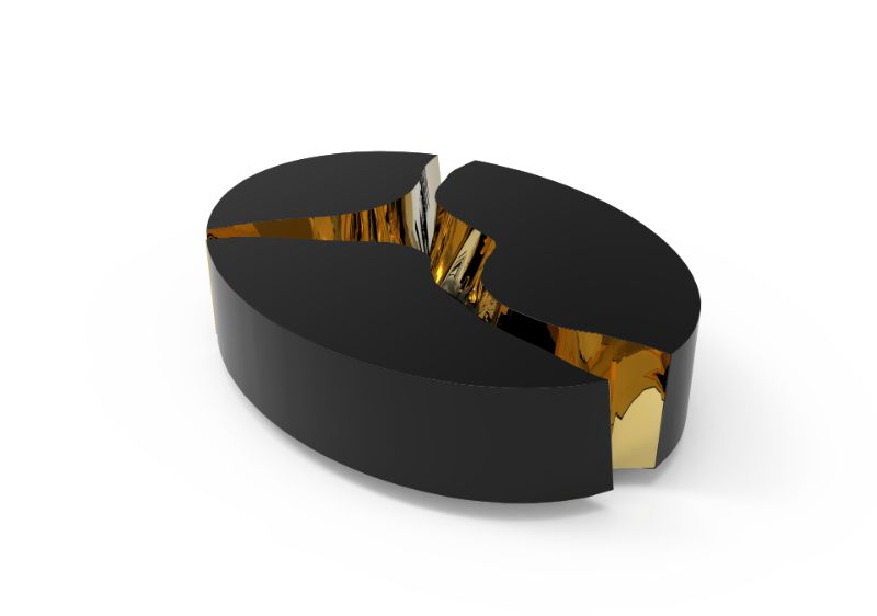furniture collection Lapiaz – Exquisite Furniture Collection by Boca do Lobo lapiaz oval black and brass 09