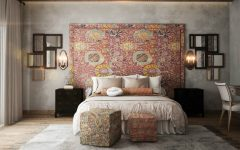 bedroom walls Original Bedroom Walls Ideas to Inspire You square ottomans many mirrors rustic ethnic accent wall 240x150