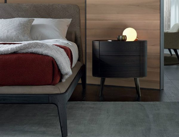 wooden nightstand Wooden Nightstand Ideas for Your Modern Bedroom Poliform 2018 600x460