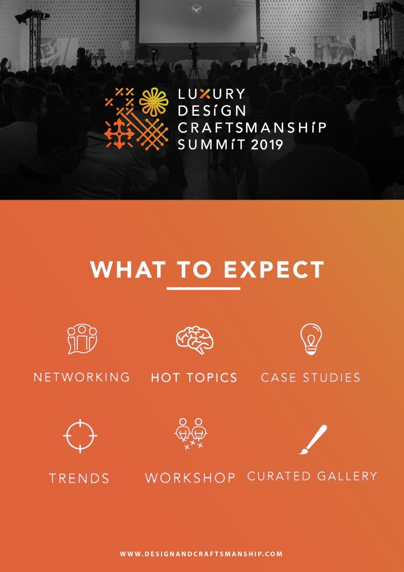 luxury design Luxury Design and Craftsmanship Summit 2019: Celebrating Arts Celebrating Craftsmanship The Luxury DesignCraftsmanship Summit 2019 1