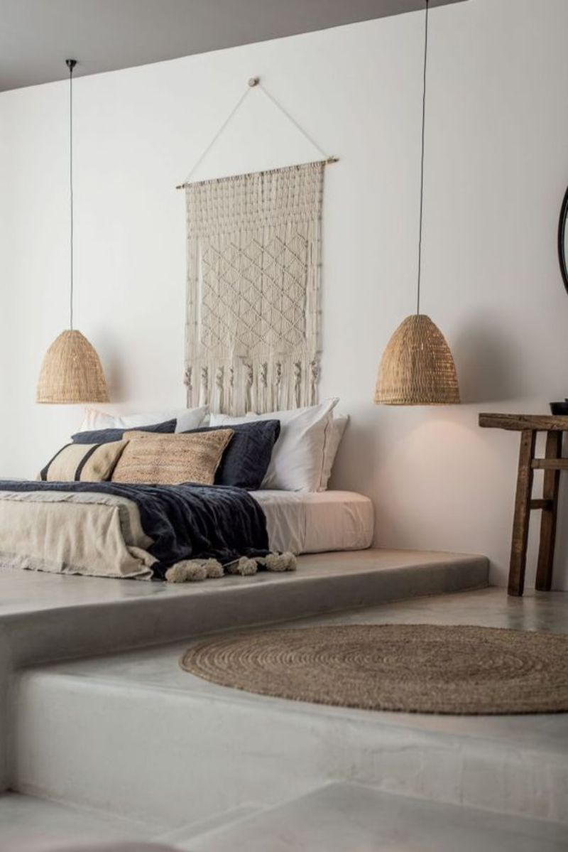 bedroom walls Inspiring Ideas for Your Bedroom Walls boho2