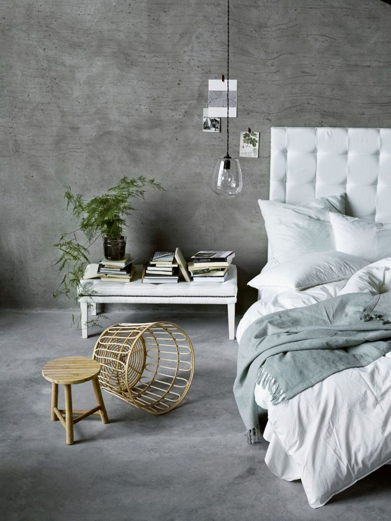 bedroom walls Inspiring Ideas for Your Bedroom Walls concrete