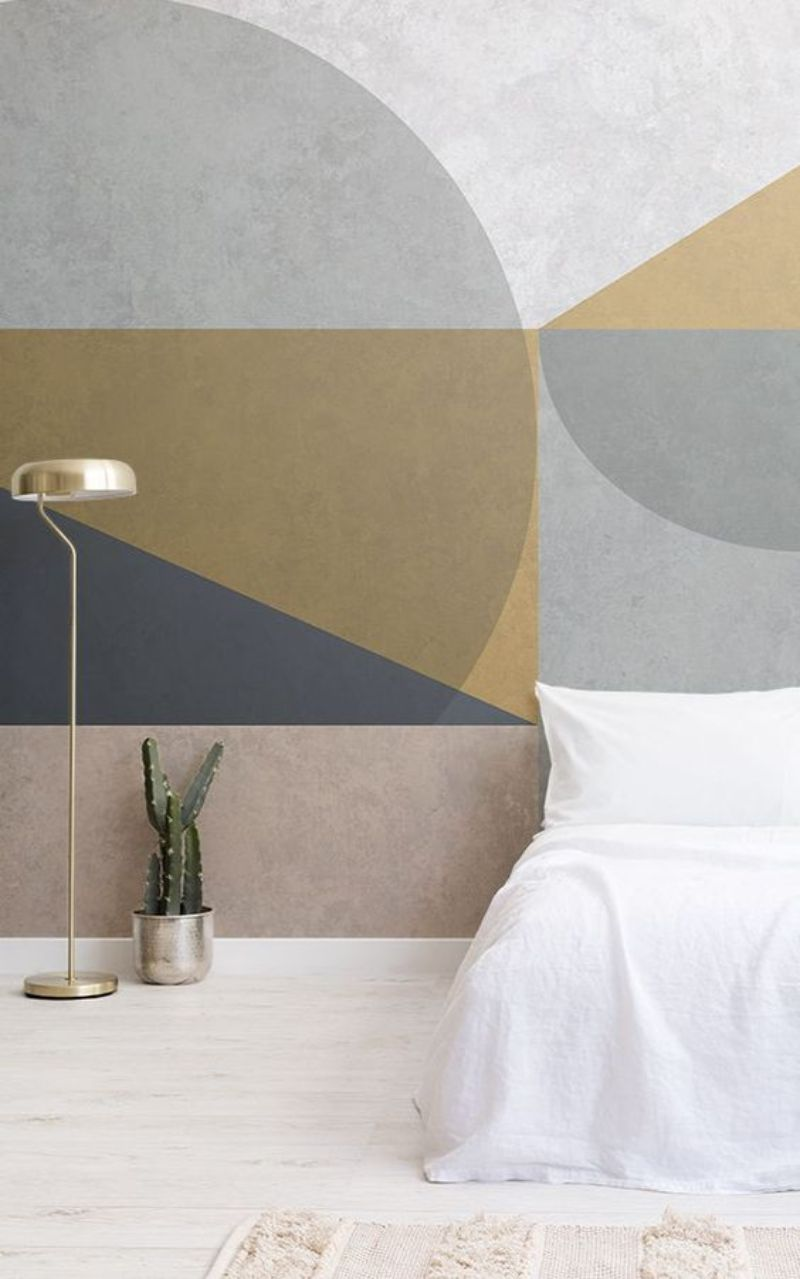 bedroom walls bedroom walls Inspiring Ideas for Your Bedroom Walls geometry2
