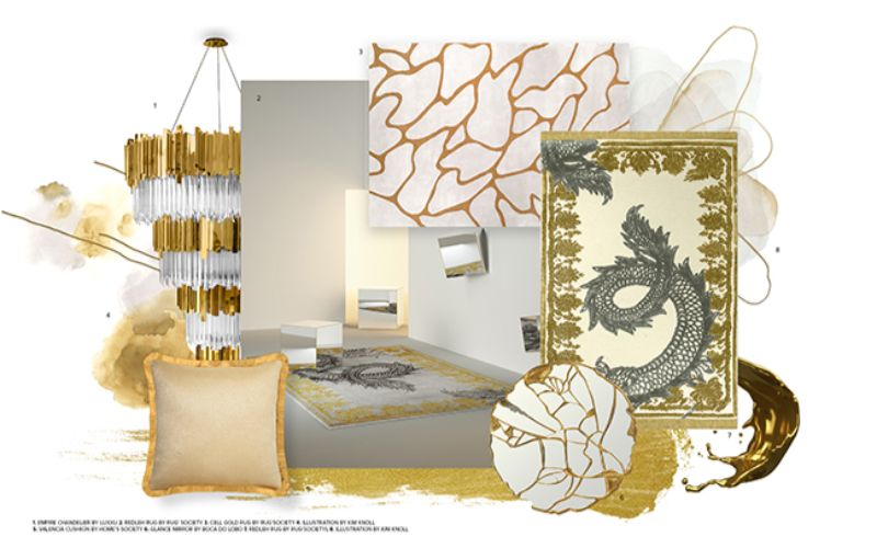 modern bedroom Inspiring Design Trends for Your Modern Bedroom gold and white