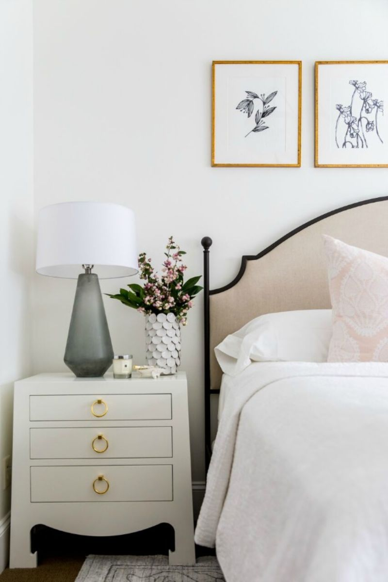 white nightstand White Nightstand Designs for Your Modern Bedroom Interior mcgee 2