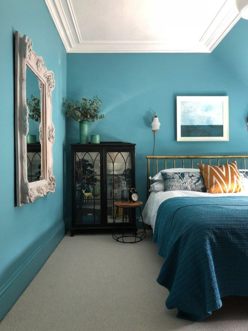 blue bedroom Relaxing Blue Bedroom Interior Designs 1c607c8f74d037ab8a5c6e7bce53e9ce