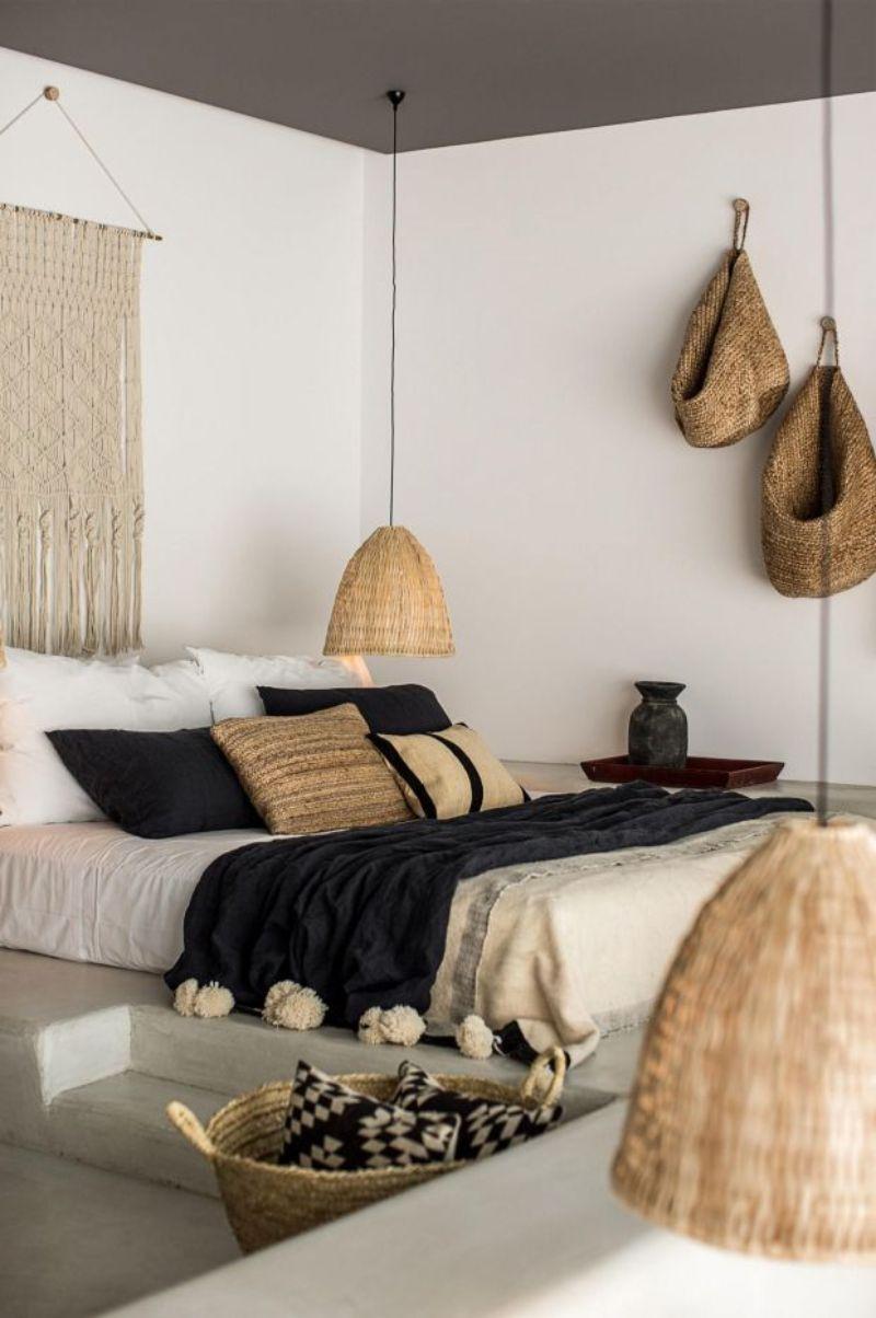 bedroom interior Follow Color Trends: Beige Bedroom Interior Designs boho