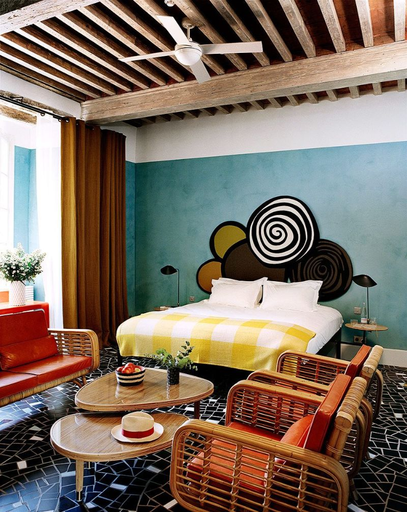 Get Inspired by India Mahdavi's Modern Bedrooms Design india mahdavi Get Inspired by India Mahdavi's Modern Bedrooms Design hotel du cloitre