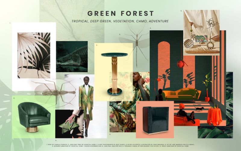 bedroom furniture Get Inspired by Top Trends for Your Bedroom Furniture moodboard trends 2019 green forest 2