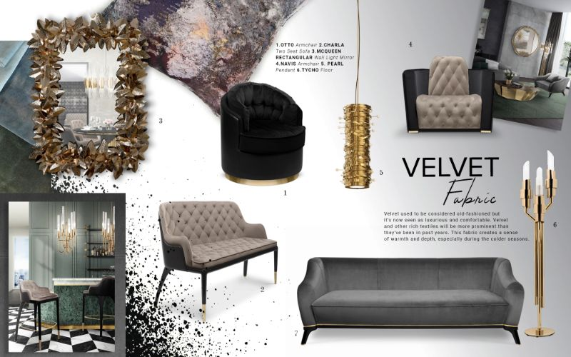 bedroom furniture Get Inspired by Top Trends for Your Bedroom Furniture moodboard trends 2019 velvet