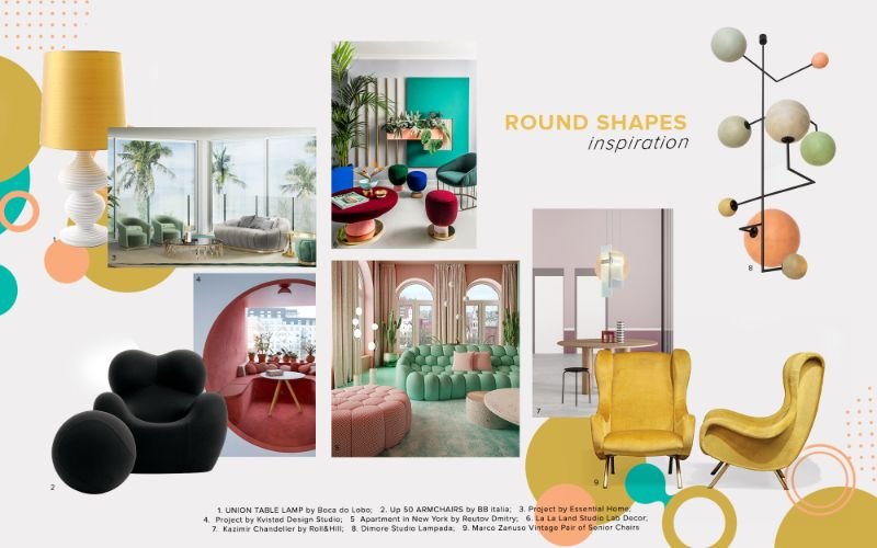 bedroom furniture Get Inspired by Top Trends for Your Bedroom Furniture moodboard trends 2020 curved shapes 1