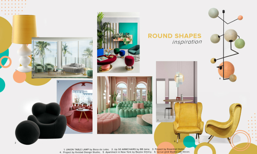 bedroom furniture Get Inspired by Top Trends for Your Bedroom Furniture moodboard trends 2020 curved shapes