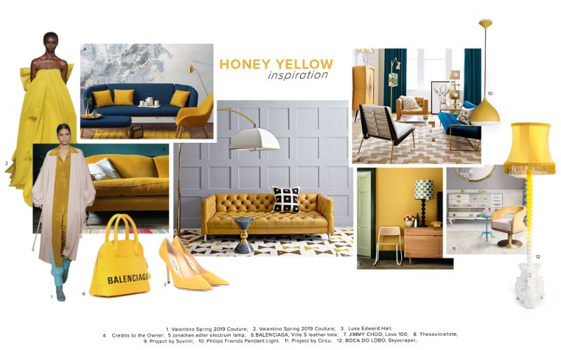 bedroom furniture Get Inspired by Top Trends for Your Bedroom Furniture moodboard trends 2020 honey yellow