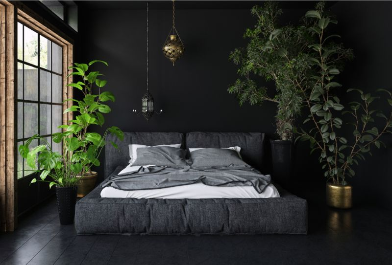 bedroom interior Breathe the Nature Into Your Bedroom Interior plants 1