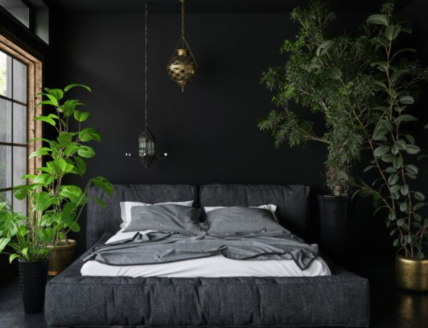 bedroom interior Breathe the Nature Into Your Bedroom Interior plants 600x460
