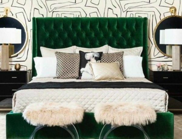 master bedroom Emerald Green Design Inspiration For Your Master Bedroom Decor feat 5 600x460