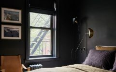 contemporary black bedroom Contemporary Black Bedroom Inside A New York City Modern Apartment feat 240x150