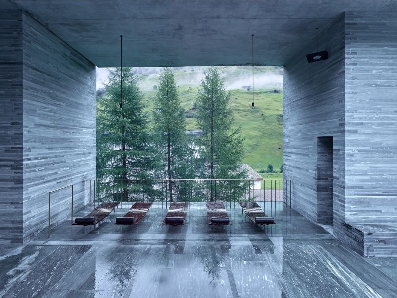 Discover These Luxury Bedroom Designs At Zumthor's Vals Spa luxury bedroom designs Luxury Bedroom Designs At 7132 Hotel: The Art of Alpine Luxury Luxury Bedroom Design by Morphosis At Zumthors Vals Spa 1