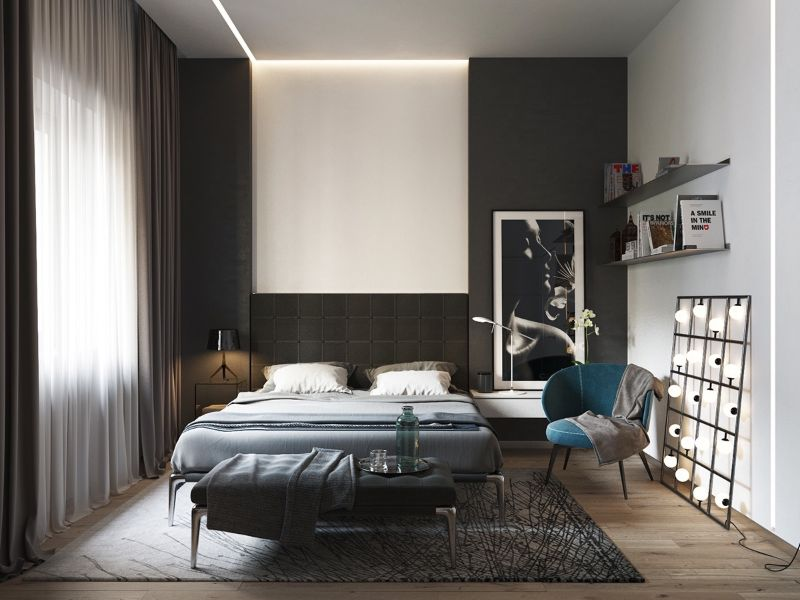 Contemporary Bedroom Design Trends To Follow In 2020 contemporary bedroom Contemporary Bedroom Design Trends To Follow In 2020 BOLD BLACK AND WHITE 1