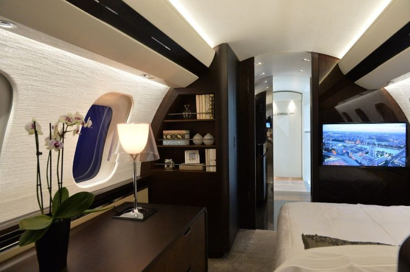 Get Impressed By These Five Luxury Bedrooms Inside Private Jets luxury bedrooms Get Impressed By These Five Luxury Bedrooms Inside Private Jets Bombardier Global 7000 1