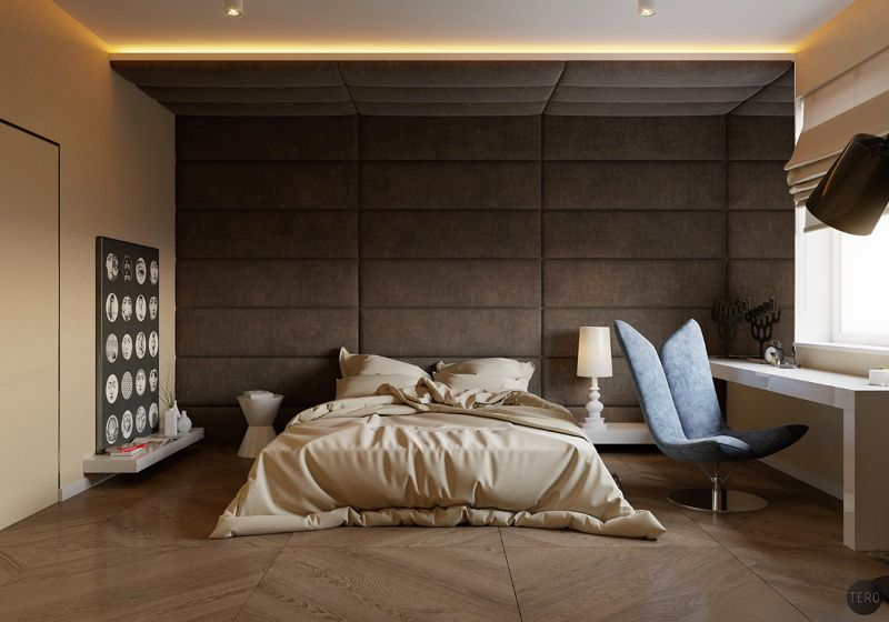 Contemporary Bedroom Design Trends To Follow In 2020 contemporary bedroom Contemporary Bedroom Design Trends To Follow In 2020 UPHOLSTERED WALLS