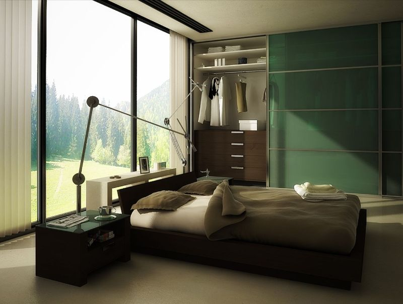 contemporary bedroom Contemporary Bedroom Design Trends To Follow In 2020 forest green bedroom color combinations