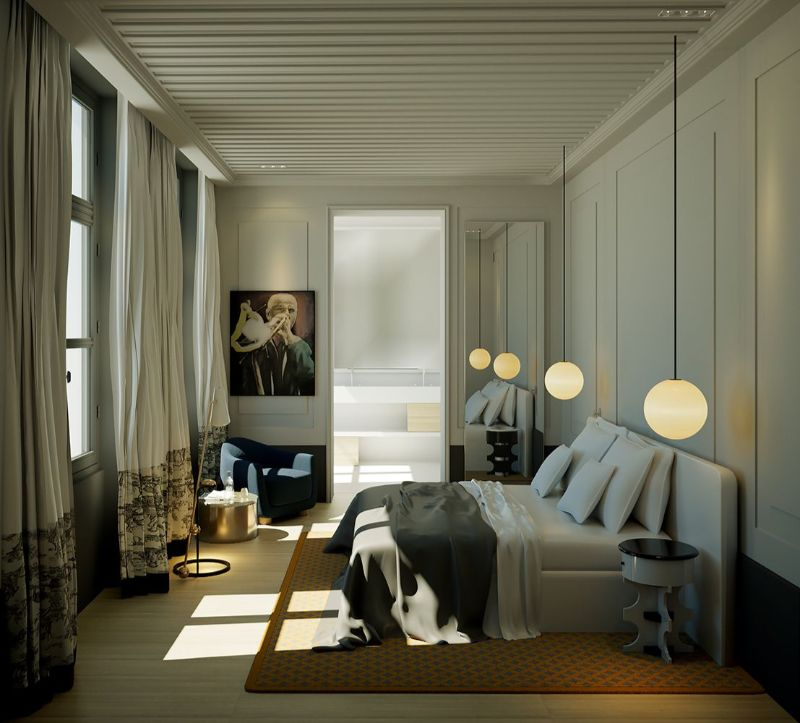 Midnight In Paris: Bedroom Interiors By French Top Interior Designers french top interior designers Midnight In Paris: Bedroom Interiors By French Top Interior Designers Charles Zana 2