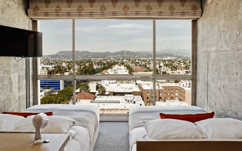 Inside The Contemporary Bedrooms In The Most Brutalist Hotels contemporary bedrooms Inside The Contemporary Bedrooms In The Most Brutalist Hotels The LINE LA Los Angeles 1