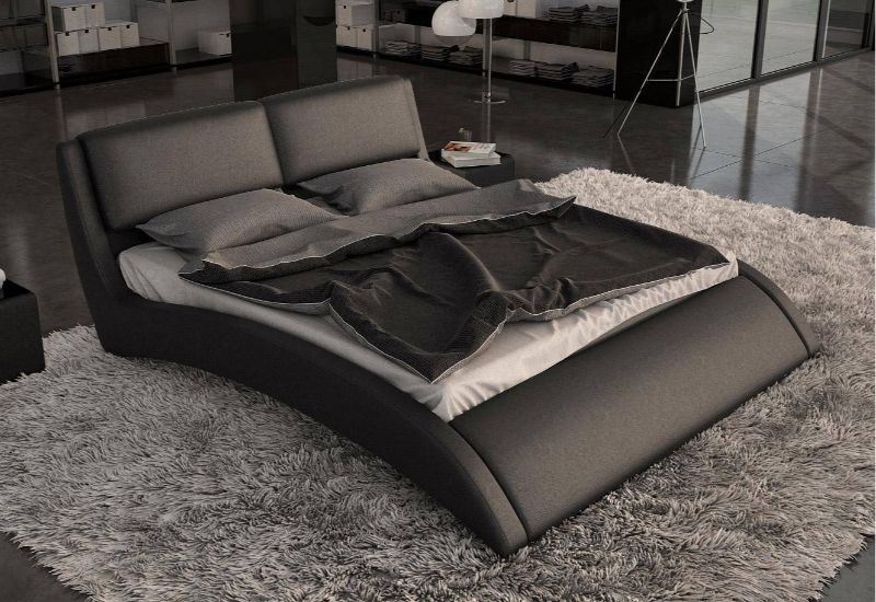 Curved Shapes - Design Trend 2020: Here Are 10 Curved Modern Beds curved modern beds Curved Shapes – Design Trend 2020: Here Are 10 Curved Modern Beds black leather curved modern platform queen king frame wood white mid century cal designs all plans comfo