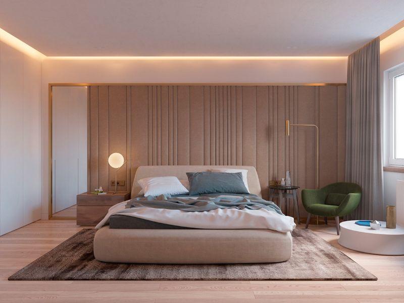 Michael Anastassiades's Unique Bedroom Design Projects michael anastassiades Michael Anastassiades's Unique Bedroom Design Projects green and brass bedroom