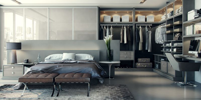 Modern Design Ideas: 10 Contemporary Bedrooms With Attached Wardrobes contemporary bedrooms Modern Design Ideas: 10 Contemporary Bedrooms With Attached Wardrobes Modern Design Ideas 10 Contemporary Bedrooms With Attached Wardrobes 5