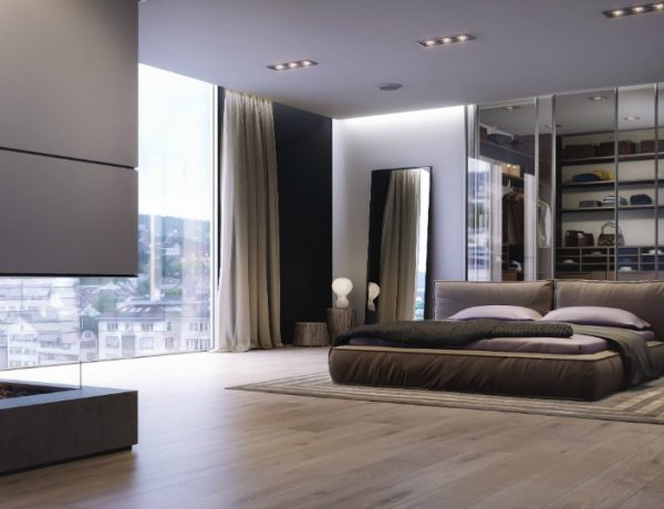 contemporary bedrooms Modern Design Ideas: 10 Contemporary Bedrooms With Attached Wardrobes featured 6 600x460