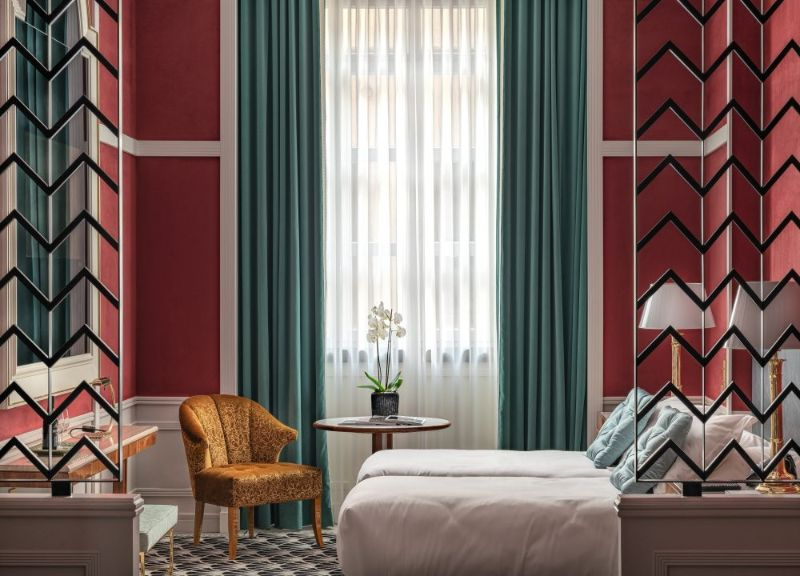 Discover Inspiring Bedroom Interiors By Top Design Studios design studios Discover Inspiring Bedroom Interiors By Top Design Studios Monumental Palace Hotel 21 800x576 1