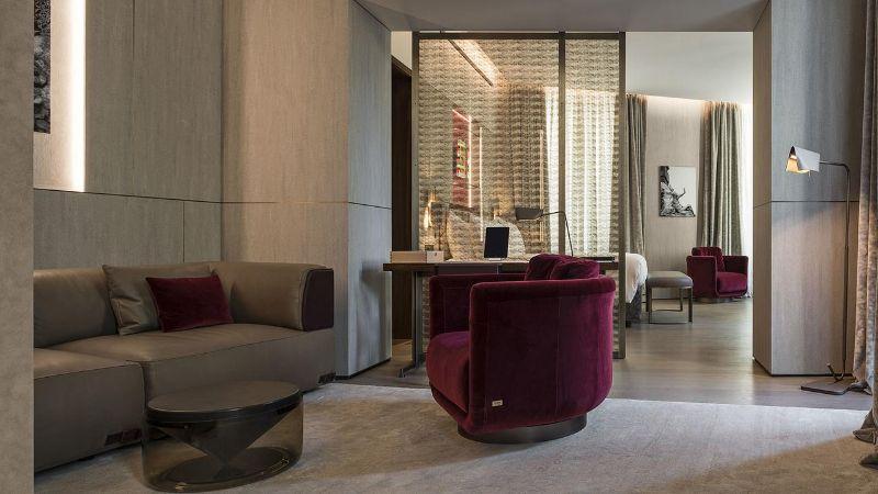 The Fendi Private Suites: Modern And Elegant Master Bedrooms In Rome fendi The Fendi Private Suites: Modern And Elegant Master Bedrooms In Rome corner suite 2