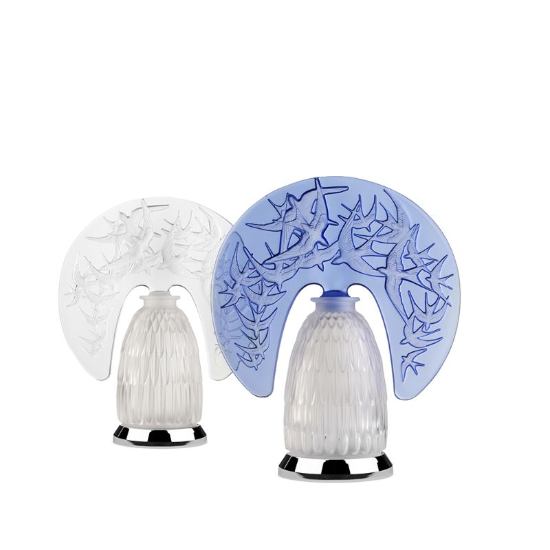 Lalique's Furniture And Lighting Pieces For Your Modern Bedroom lalique Lalique's Furniture And Lighting Pieces For Your Modern Bedroom HIRONDELLES LAMP