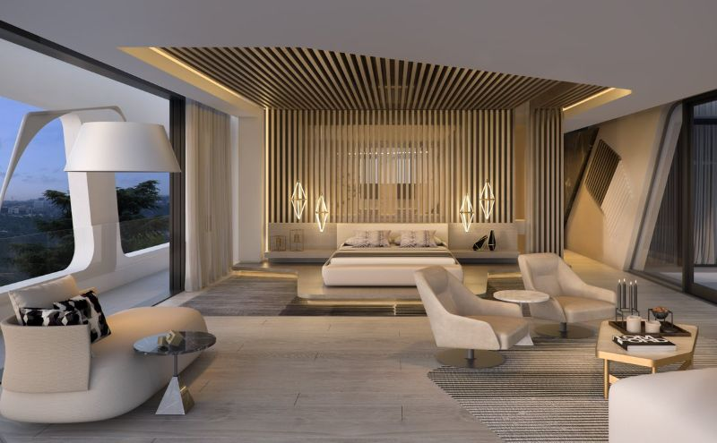 Glamorous Bedroom Interiors With Refined Details By ARRCC arrcc Glamorous Bedroom Interiors With Refined Details By ARRCC Glamorous Bedroom Interiors With Refined Details By ARRCC 6