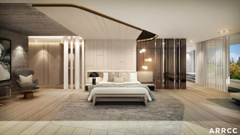 Glamorous Bedroom Interiors With Refined Details By ARRCC arrcc Glamorous Bedroom Interiors With Refined Details By ARRCC Glamorous Bedroom Interiors With Refined Details By ARRCC 8