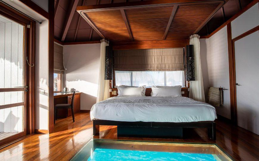 master bedroom ideas Master Bedroom Ideas Connecting Nature And Luxury Inside Le M  ridien Bora Bora 1 1 870x540