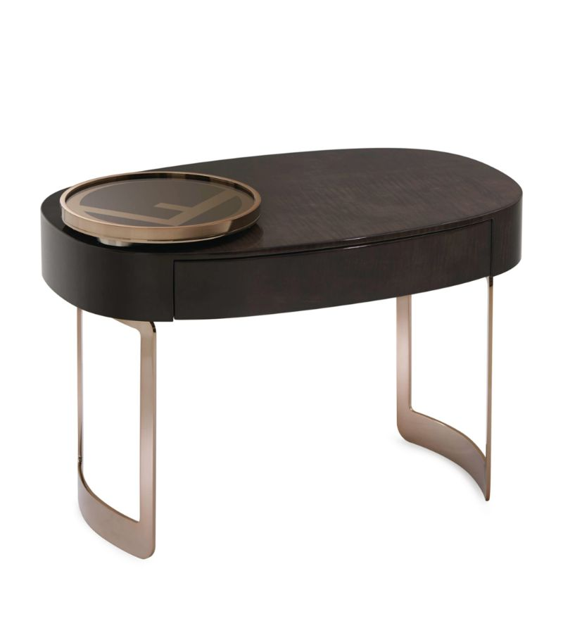Cosmopolitan, Intense, Glamorous: Bedroom Furniture By Fendi Casa fendi casa Cosmopolitan, Intense, Glamorous: Bedroom Furniture By Fendi Casa MOONLIGHT BEDSIDE TABLE