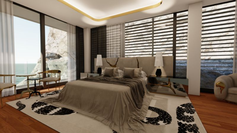 modern bedroom A Master Modern Bedroom That Overlooks The Mediterranean Sea A Modern Bedroom Located Inside Of A 15 Million Mansion 2