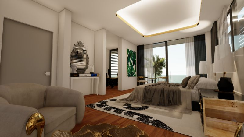 modern bedroom A Master Modern Bedroom That Overlooks The Mediterranean Sea A Modern Bedroom Located Inside Of A 15 Million Mansion 3