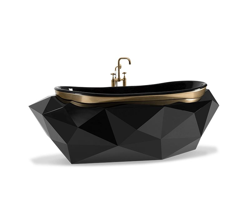 A Selection Of Black Furniture For Dark Master Bedrooms Lovers dark master bedroom A Selection Of Black Furniture For Dark Master Bedrooms Lovers diamond bathtub 02 boca do lobo