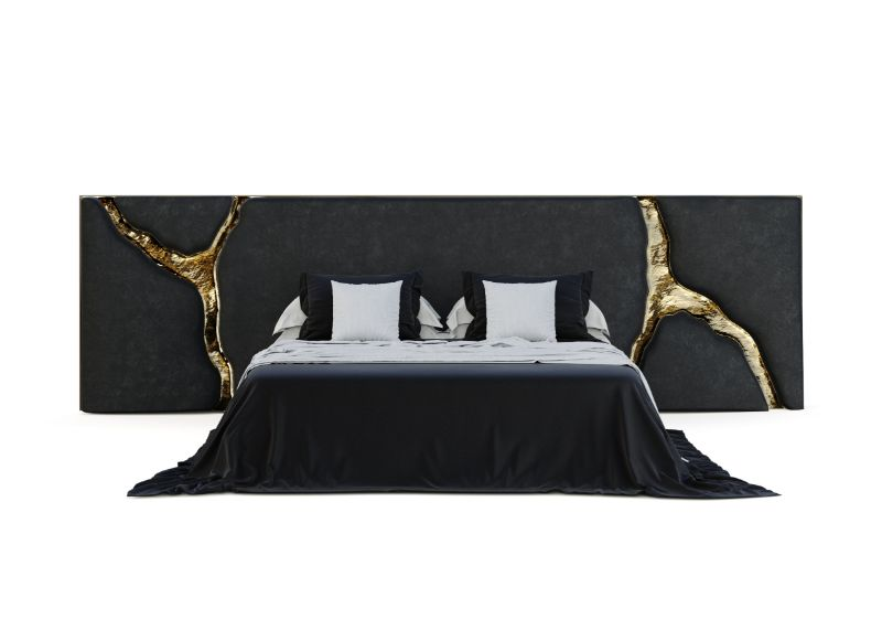 Boca do Lobo's First Headboard For Exclusive And Elegant Bedrooms boca do lobo Boca do Lobo's First Headboard For Exclusive And Elegant Bedrooms lapiaz black headboard 01 1
