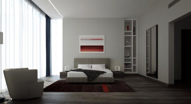 10 Elegant yet Simple Bedroom Designs simple bedroom design 10 Elegant yet Simple Bedroom Designs red accent designs 1 1