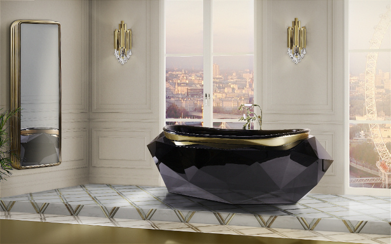 Elevate Your Master Bedroom – Luxury Bathtubs That Will Steal The Show luxury bathtubs Luxury Bathtubs With Extraordinary Designs 24 diamond bathtub colosseum wall display HR 1