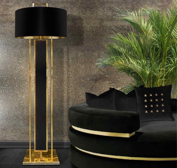 20 Floor Lamps That Will Transform Your Space floor lamp 20 Floor Lamps That Will Transform Your Space Satin and Brass 1