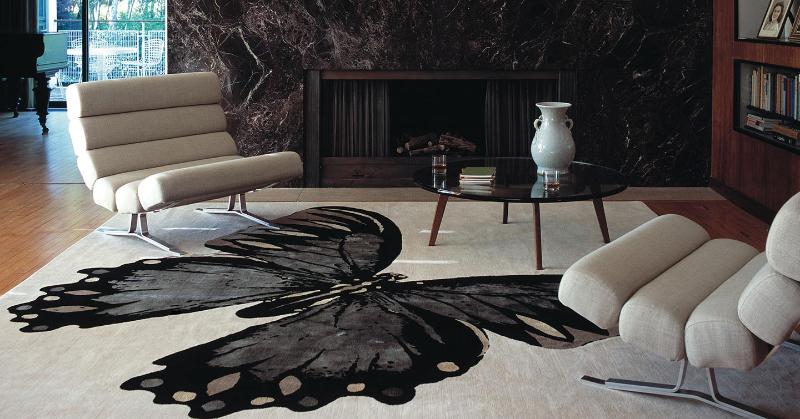 The Best Luxury Rugs For A Stunning Bedroom Design luxury rug The Best Luxury Rugs For A Stunning Bedroom Design Tara Bernerd Papillon 1440x755px 1